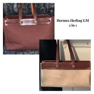 Authentic Hermes Herbag tote GM